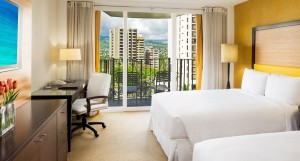 Executive View Double Mountain View Room at the Hilton Waikiki Hotel