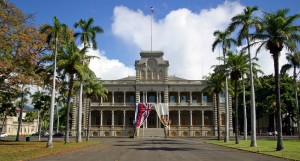 Iolani Palace is located 4 miles from our Waikiki Beach hotel