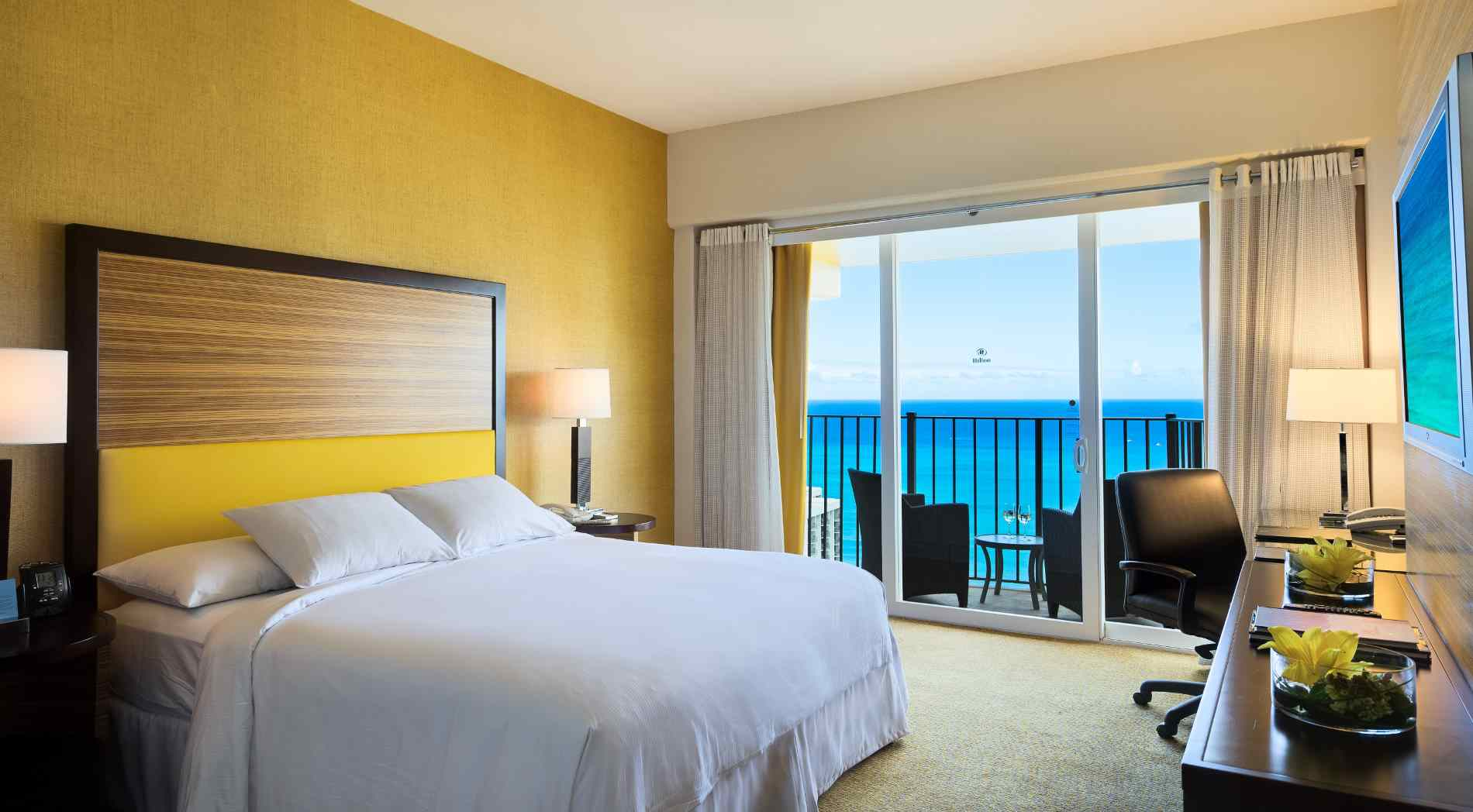 View of a King Room with ocean view.