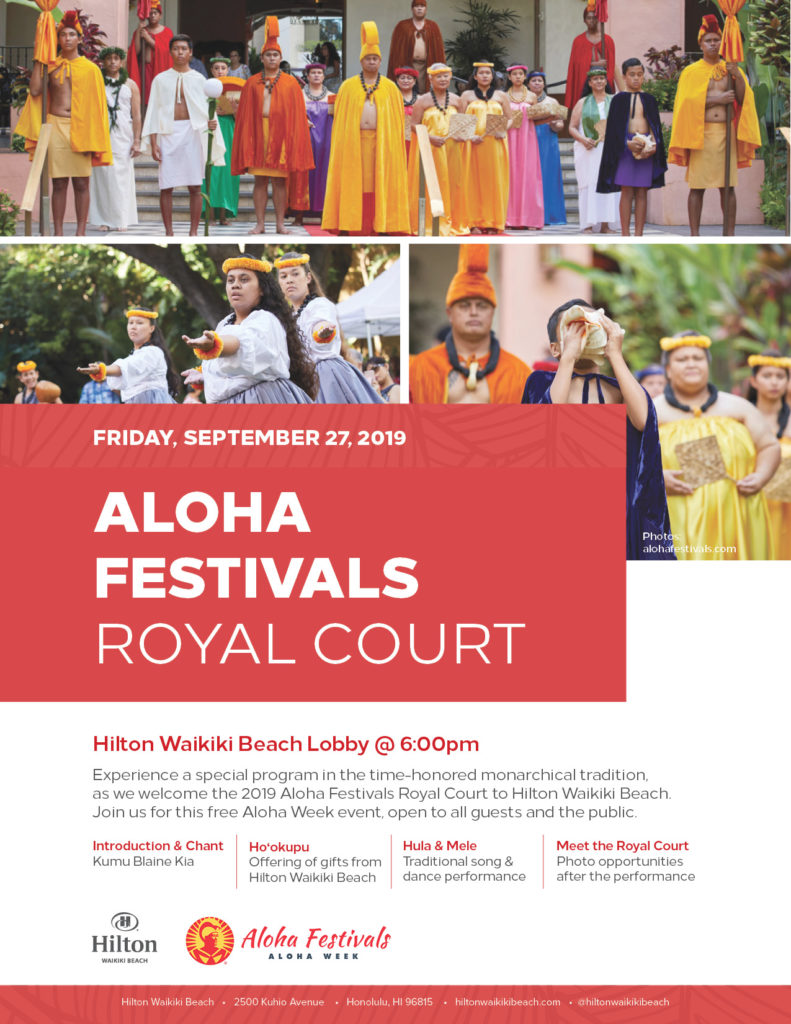 Aloha Festivals Royal Court Event at Hilton Waikiki Beach